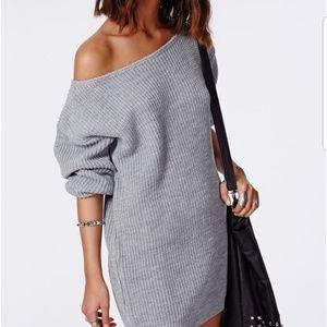 Missguided off the shoulder knit dress